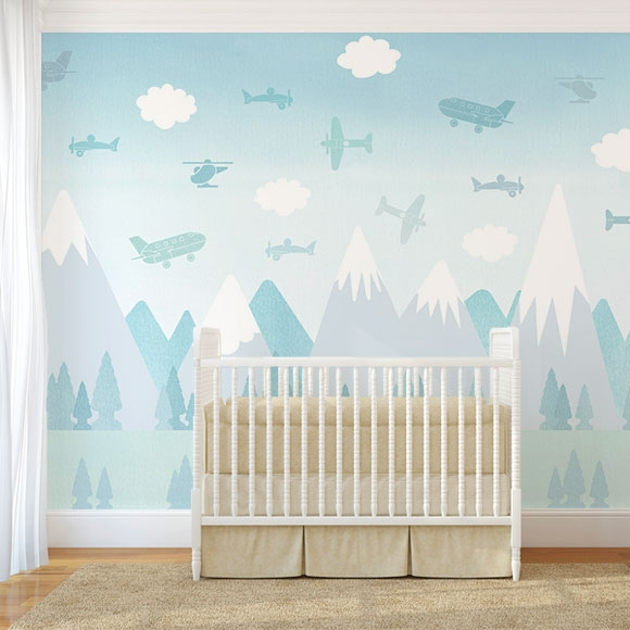 Décor mural - Boråstapeter - BRIO Air - Bleu