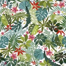 Papier peint - Coordonné - Paraísos artificiales - Vert et rose