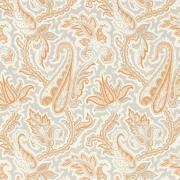Papier peint - Thibaut - Winchester Paisley - Tangerine and Grey