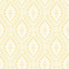 Papier peint - Cole and Son - Florence - White & Ochre