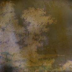Décor mural - Labo Leonard - Alchimie 9 - marron, jaune et violet