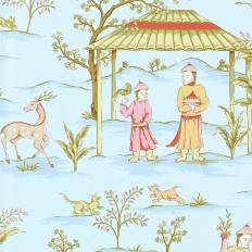 Papier peint - Thibaut - Ting Yuan - Blue