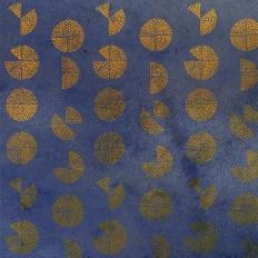 Décor mural - Labo Leonard - Graph 17 - bleu et or