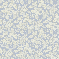 Papier peint - Cole and Son - Oak Leaf - Cream & Blue