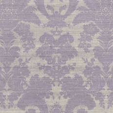 Papier peint - Thibaut - West Indies Damask - Metallic Silver on Taupe