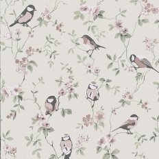 Papier peint - Boråstapeter - Falsterbo Birds - Beige
