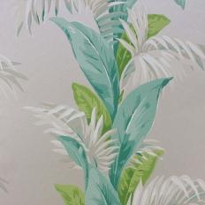 Papier peint - Nina Campbell - Palmetto - Vert d'eau, gris et vert