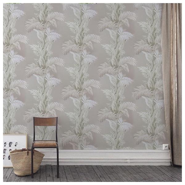 papier peint palmetto gris et blanc collection coromandel nina campbell. Black Bedroom Furniture Sets. Home Design Ideas