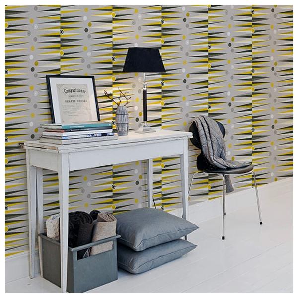 papier peint backgammon jaune moutarde et gris book 1. Black Bedroom Furniture Sets. Home Design Ideas