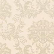 Papier peint - Thibaut - Symphony Damask - Metallic Pearl on White