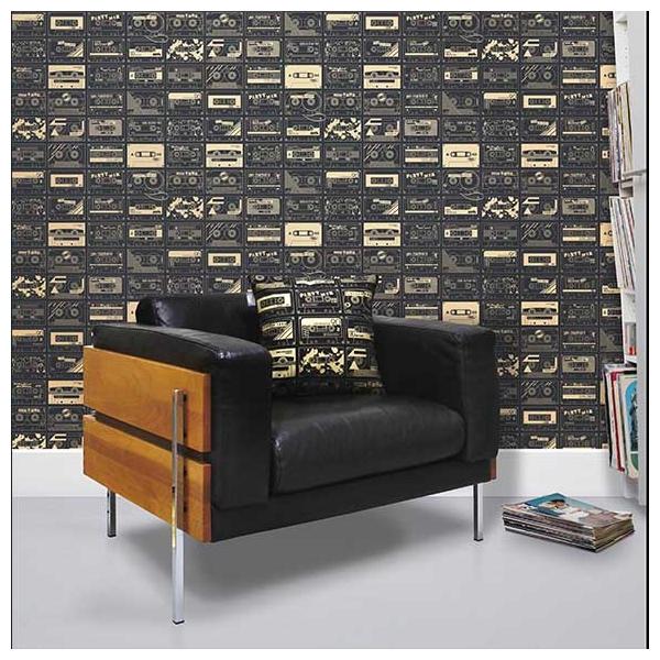 papier peint c 60 noir et dor book 1 mini moderns. Black Bedroom Furniture Sets. Home Design Ideas