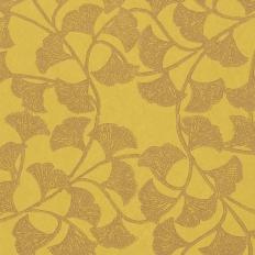 Papier peint - Thibaut - Ginkgo - Citron