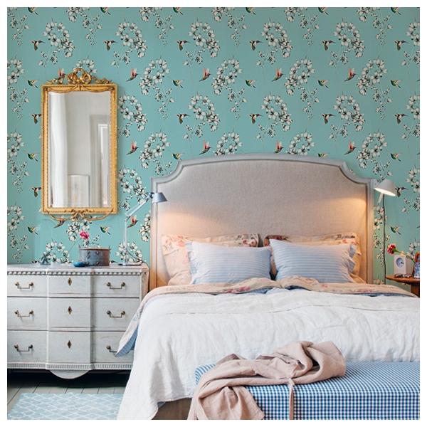 papier peint amazilia bleu ciel amazilia harlequin. Black Bedroom Furniture Sets. Home Design Ideas