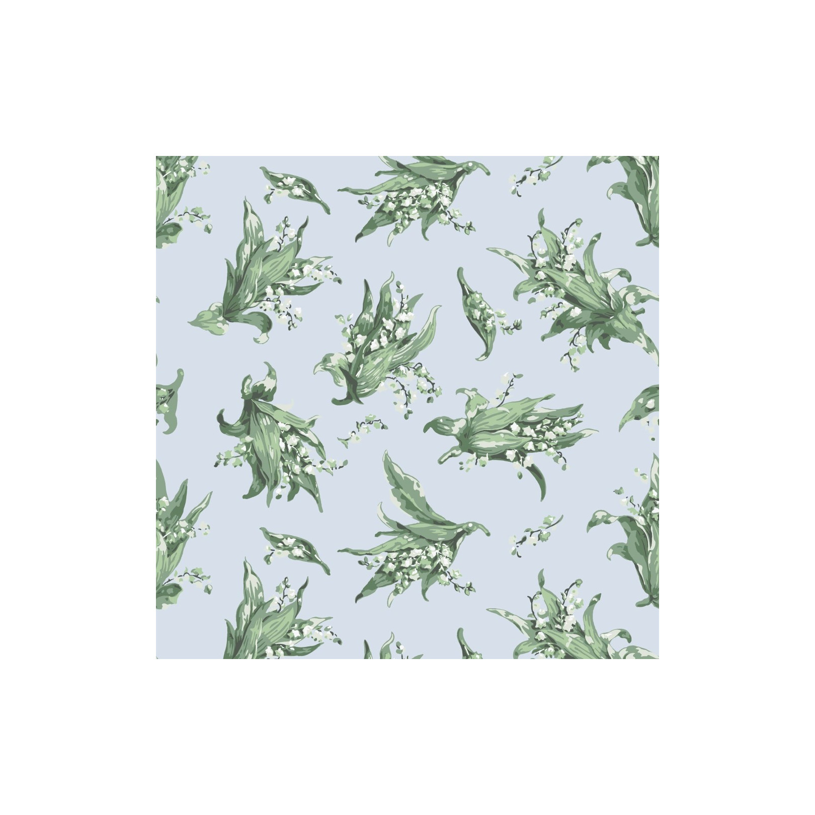 Papier peint - Cole and Son - Lily of the Valley - Fresh Blue & Greens