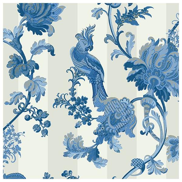 papier peint zerzura bleu encre de chine martyn lawrence. Black Bedroom Furniture Sets. Home Design Ideas