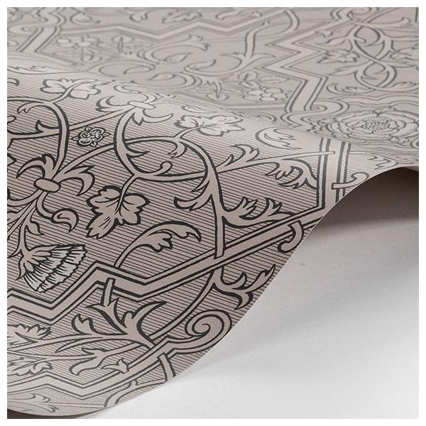 Papier peint rosenvinge taupe et argent anno bor stapeter for Papier peint turquoise et argent