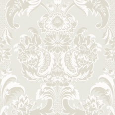 Papier peint - Cole and Son - Wyndham - White & Pearl
