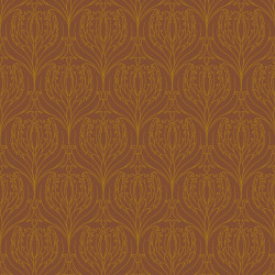 Papier peint - Cole and Son - Tulip Damask  - Brown