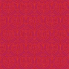 Papier peint - Cole and Son - Tulip Damask - Red