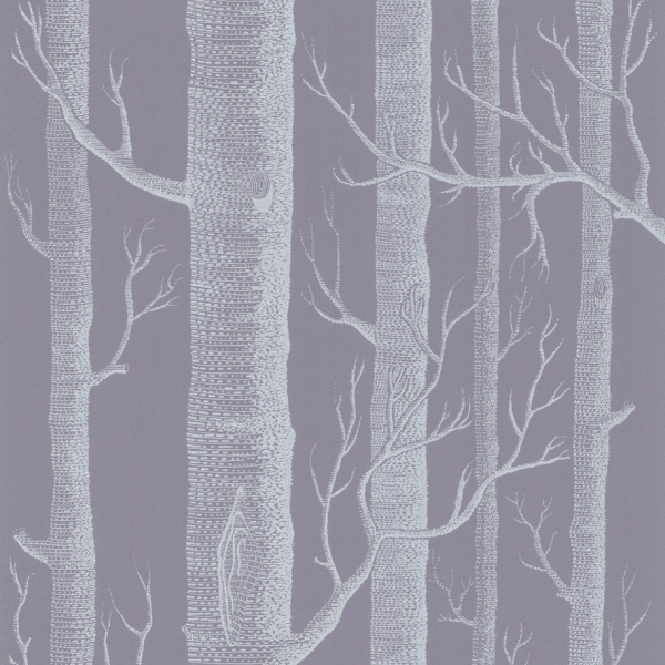 Papier peint violet illustration d 39 arbres woods cole and for Creer son papier peint