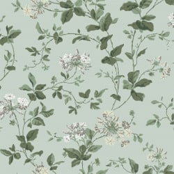 Papier peint - Cole and Son - Plumbago - Duck Egg, Greens & Neutral