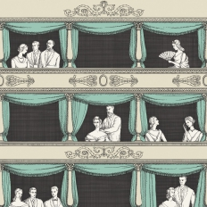 Papier peint - Cole and Son - Teatro - Linen & Acqua