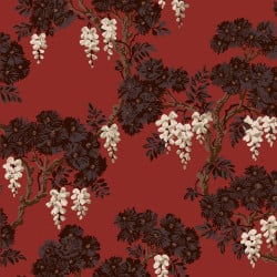 Papier peint - Cole and Son - Wisteria - Red