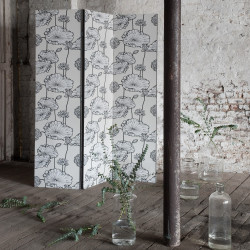 Papier peint - Cole and Son - Water Lily - Stone, White and Lustre