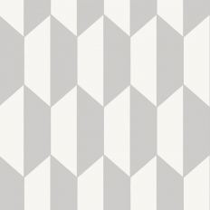 Papier peint - Cole and Son - Tile - Grey and White