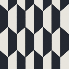Papier peint - Cole and Son - Tile - White and Black