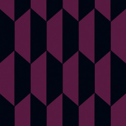 Papier peint - Cole and Son - Tile - Berry and Black