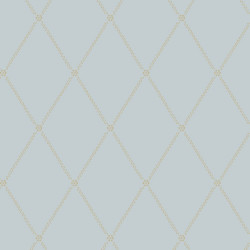 Papier peint - Cole and Son - Button Trellis - Blue & Gold