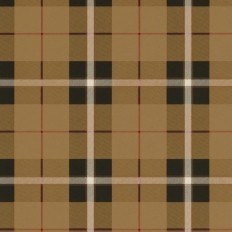 Papier peint - Thibaut - Winslow Plaid - Camel and Black