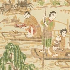 Papier peint - Thibaut - Fishing Village - Beige