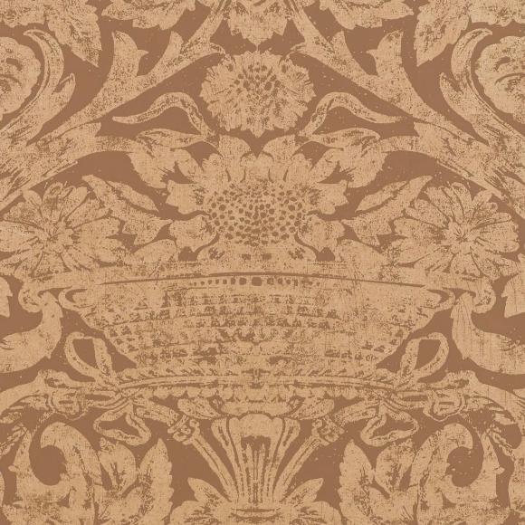 Papier peint classiques intemporels marron cadiz thibaut - Au fil des couleurs papiers peints ...