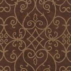 Papier peint - Thibaut - Positano - Brown