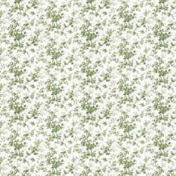 Papier peint - Thibaut - Isabelle - Green on White
