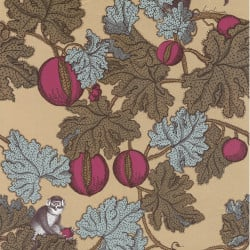 Papier peint - Cole and Son - Frutto Proibito - Gold Pink Grey & Brown