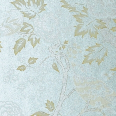 Papier peint - Anna French - Songbirds - Cream on Blue