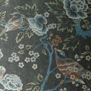 Papier peint - Anna French - Songbirds - Silver Black