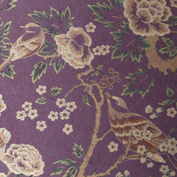 Papier peint - Anna French - Songbirds - Gold and Purple