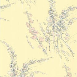 Papier peint - Cole and Son - Wild Flowers  - Yellow Blue & Pink