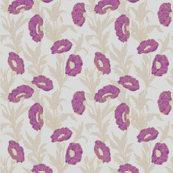 Papier peint - Cole and Son - Poppy - Silver, Purple & Green