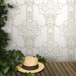 Papier peint - Cole and Son - Pergola  - White