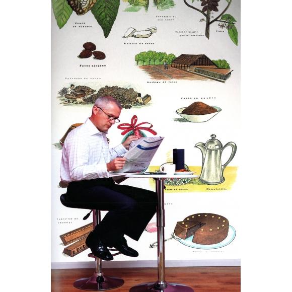 papier peint panneau d coratif blanc cacao deyrolle au. Black Bedroom Furniture Sets. Home Design Ideas