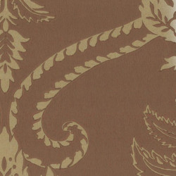 Papier peint - Anna French - Damask - Brown on Gilver