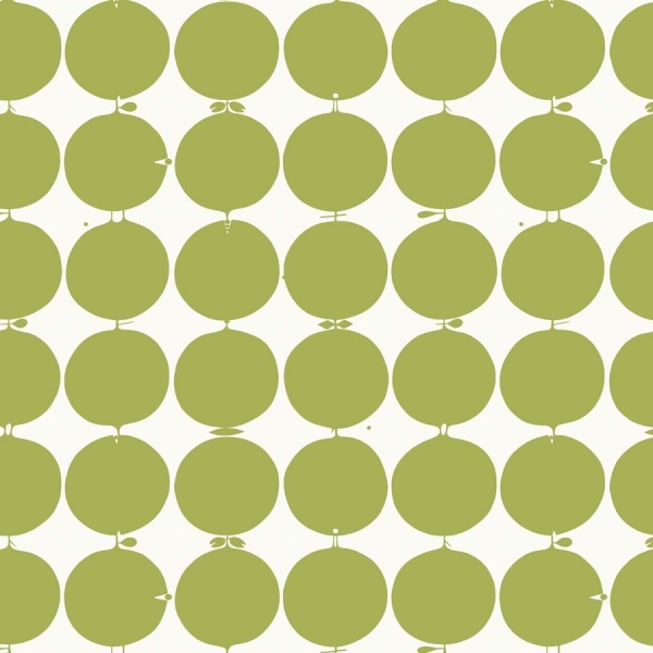 Papier peint champs de fleurs vert kejsarkrona au fil for Papier peint vert olive