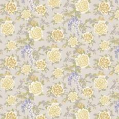Papier peint - Osborne & Little - Persian Garden - Mustard/Silver
