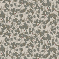 Papier peint - Osborne & Little - Feuille de Chêne - Taupe/Gilver