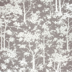 Papier peint - Osborne & Little - Mandara - Argent et taupe